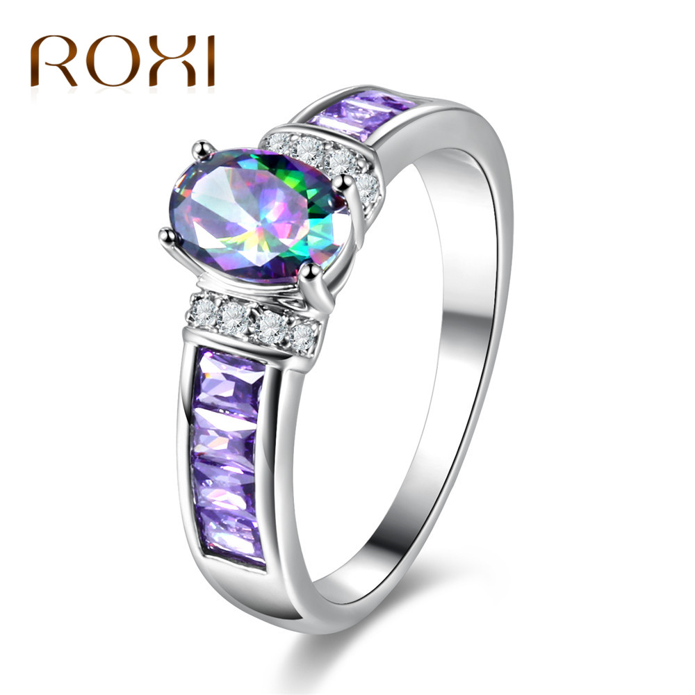 Aliexpress.com : Buy ROXI Female Purple Cubic Zircon Ring