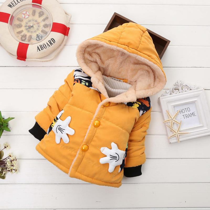 2018 New Boys Mickey Winter Coat Kids Cotton Hooded Jacket Children's Clothing For 0 1 2 3 4 Years Children Snow Clothing Jacket брюки из лиоцелла и льна