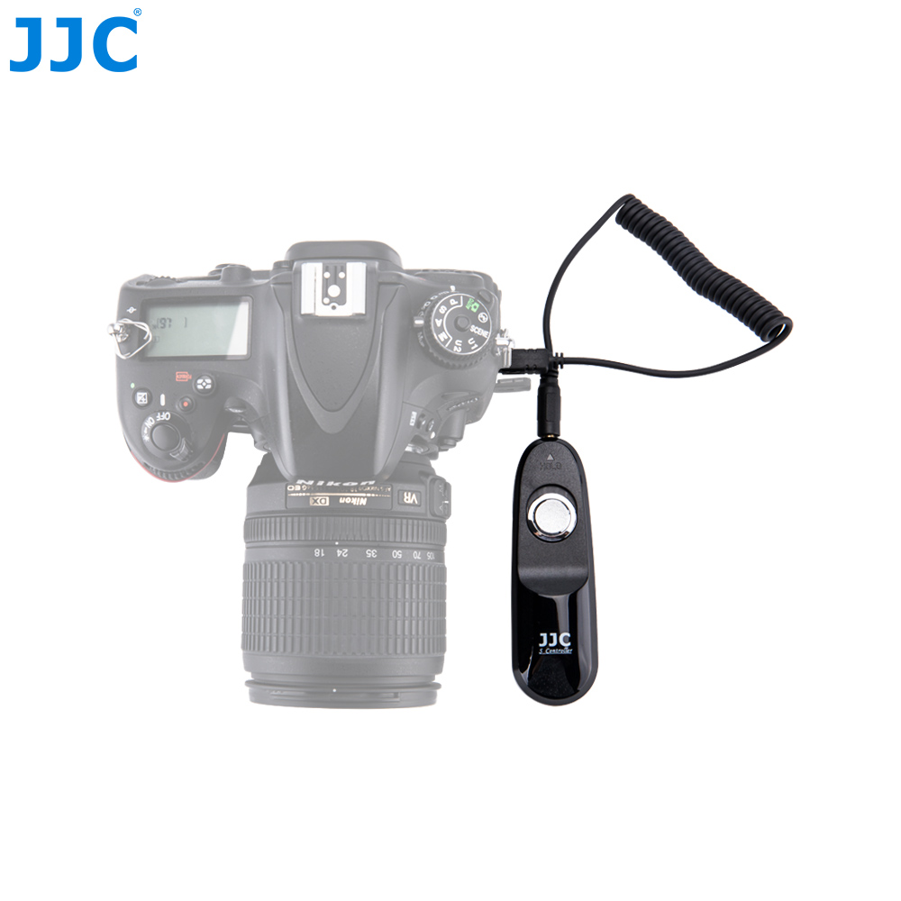 JJC Camera Wired Remote Controller Cord Shutter Release Cable for Nikon D7500/D7200/D750/D500/D800/D810/F100/D5500/D5600P7700 1 2 lcd wired remote shutter release for nikon camera black