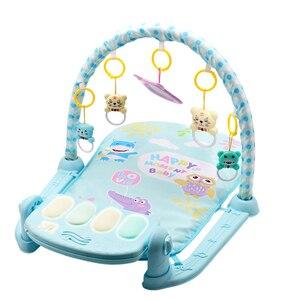 Image 3 - Nouveau 3 en 1 bébé tapis de jeu bébé gymnastique jouets doux éclairage hochets jouets musicaux pour bébés jouets éducatifs jouer Piano gymnase bébé cadeaux