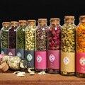 Glass bottle Dried Flower Tea lavender particle Rose Peony myosotis Red date Jasmine Lavender tea home decoration