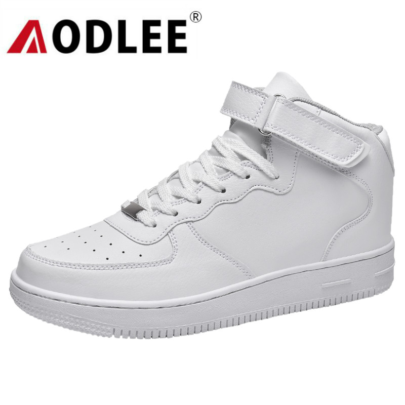 AODLEE White Sneakers Men Shoes Casual Classic Breathable Winter Fashion Men Casual Shoes Sneakers Walking Leather Shoes Men