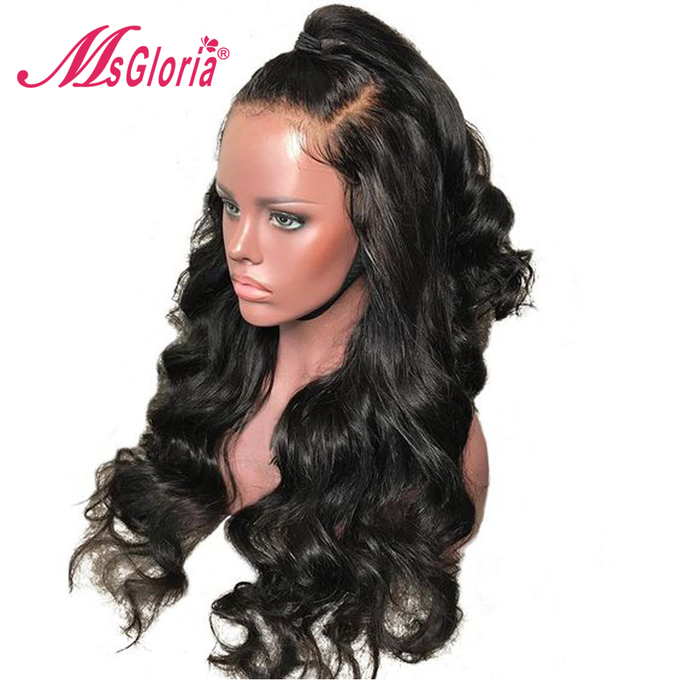 Full Lace Human Hair Wigs Brazilian Remy Hair Wig With Baby Hair Transparent Lace Body Wave