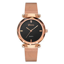 Women's Watches Geneva Brand Roman Numeral Quartz Wristwatch Minimalism Ladies Reloj De Mujer De Luxe Montres Femmes Saat @50(China)