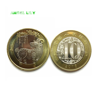 1 PCS 2015 China Zodiac Sheep Commemorative Coin A0243