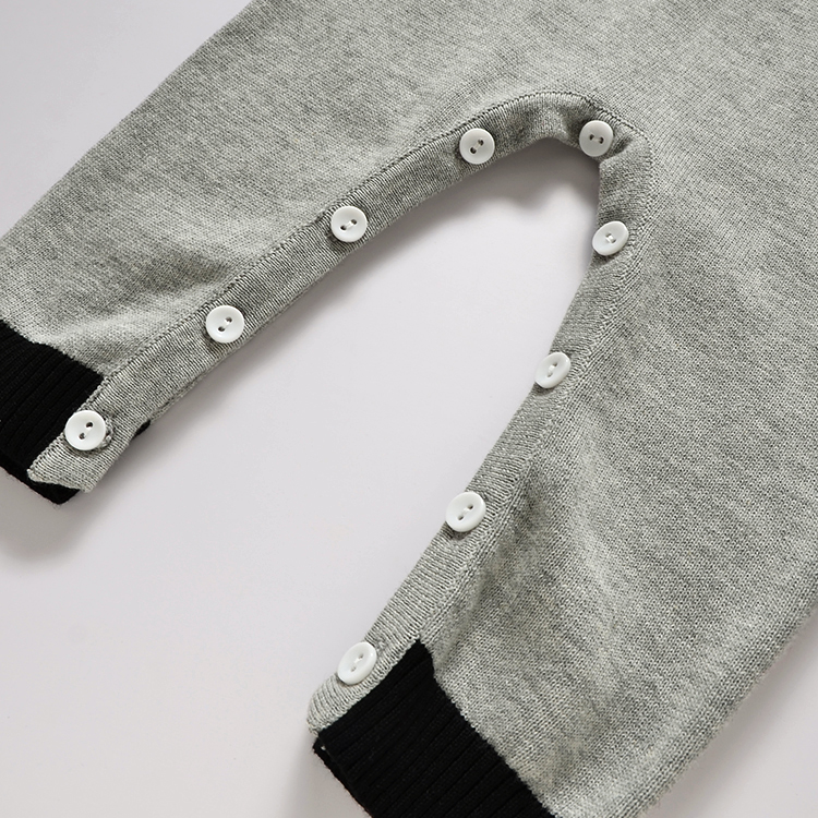 New Gentleman Knitting Romper 100% Cotton Newborn Jumper Infant Boys Jumpsuit Costume