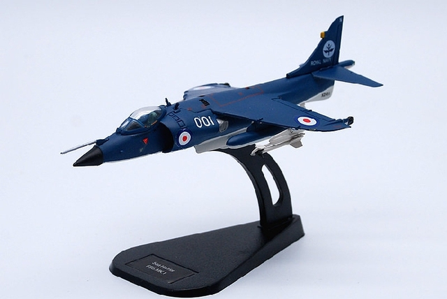 1:100 British Sea Harrier Aircraft Model of Static Fighter Alloy Decoration Model