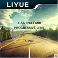 LIYUE index 1.56 progressive lenses resin free form lenses wider focus angle multi-focus without line for myopia or presbyopia