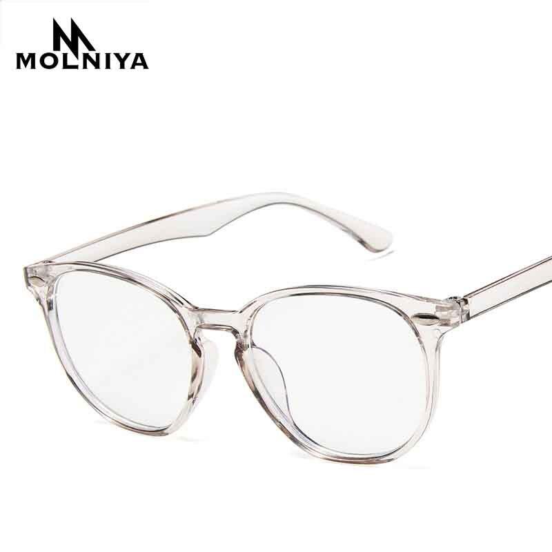 Men Round Anti Blue Light Optical Eye Frame Glasses Women Light Solid Color Transparent Myopia Eyeglasses Frames Glasses(China)