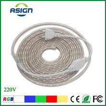 RGB LED Strip Light 5050SMD AC 220V Waterproof Single Color 1M/2M/3M/4M/5M/6M/7M/8M/9M/10M/15M/20M 60LEDs/M + EU Power Plug