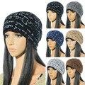 Moda Outono Inverno Quente Unisex Malha de Algodão Hat Caps Letras Prints Crânio Beanie Chapéu das Mulheres Hop gorros bonnet femme