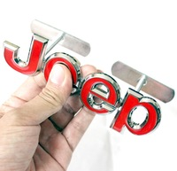 Metal Grille Emblem For Jeep For Wrangler For Grand Cherokee For Compass For Patriot Stickers Alloy