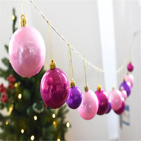 Bright 12PC 8CM Christmas Balls Xmas Tree Ornaments Decoration Merry Christmas Wedding Party Suppliers Home Decor Gift Pendant