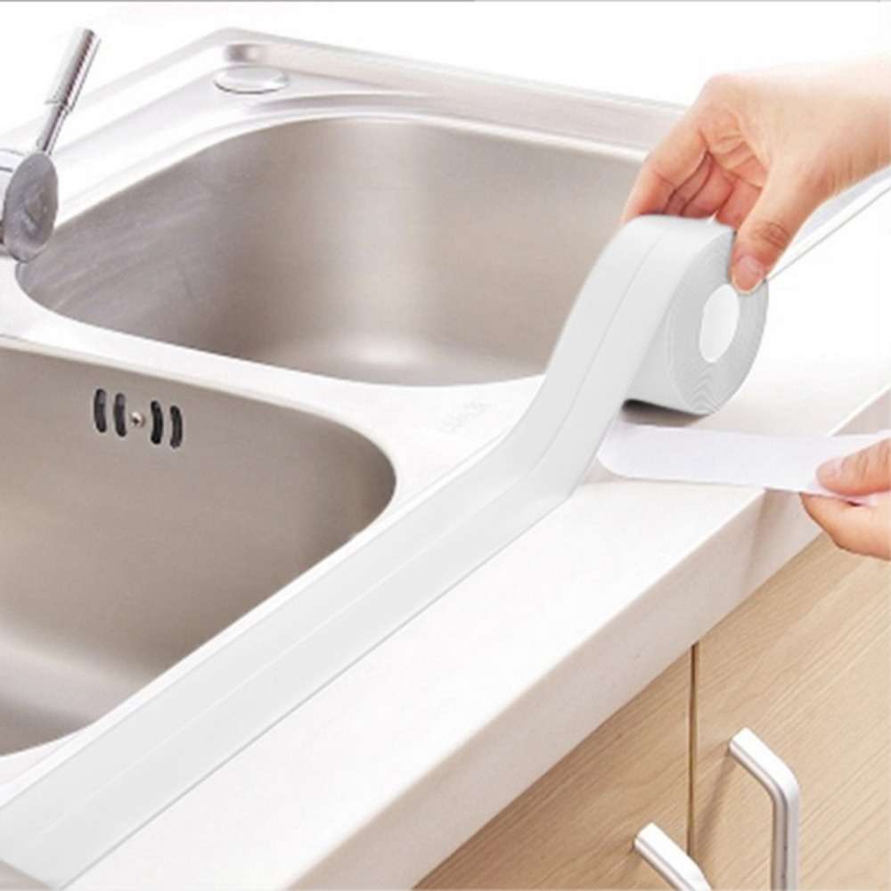 Wall Caulk Tub Surround Sealer Trim Waterproof Mold Proof Self Adhesive Tape Kitchen Bathroom Toilet Sealant Household