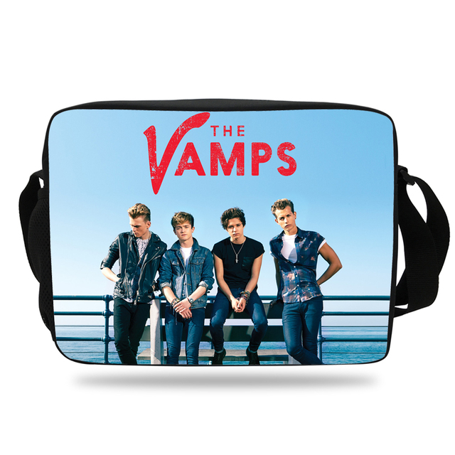Super Star Print Messenger Bag For Men Women The Vamps Single Shoulder Bag  For Kids School Boys Girls Travel Bag For Children