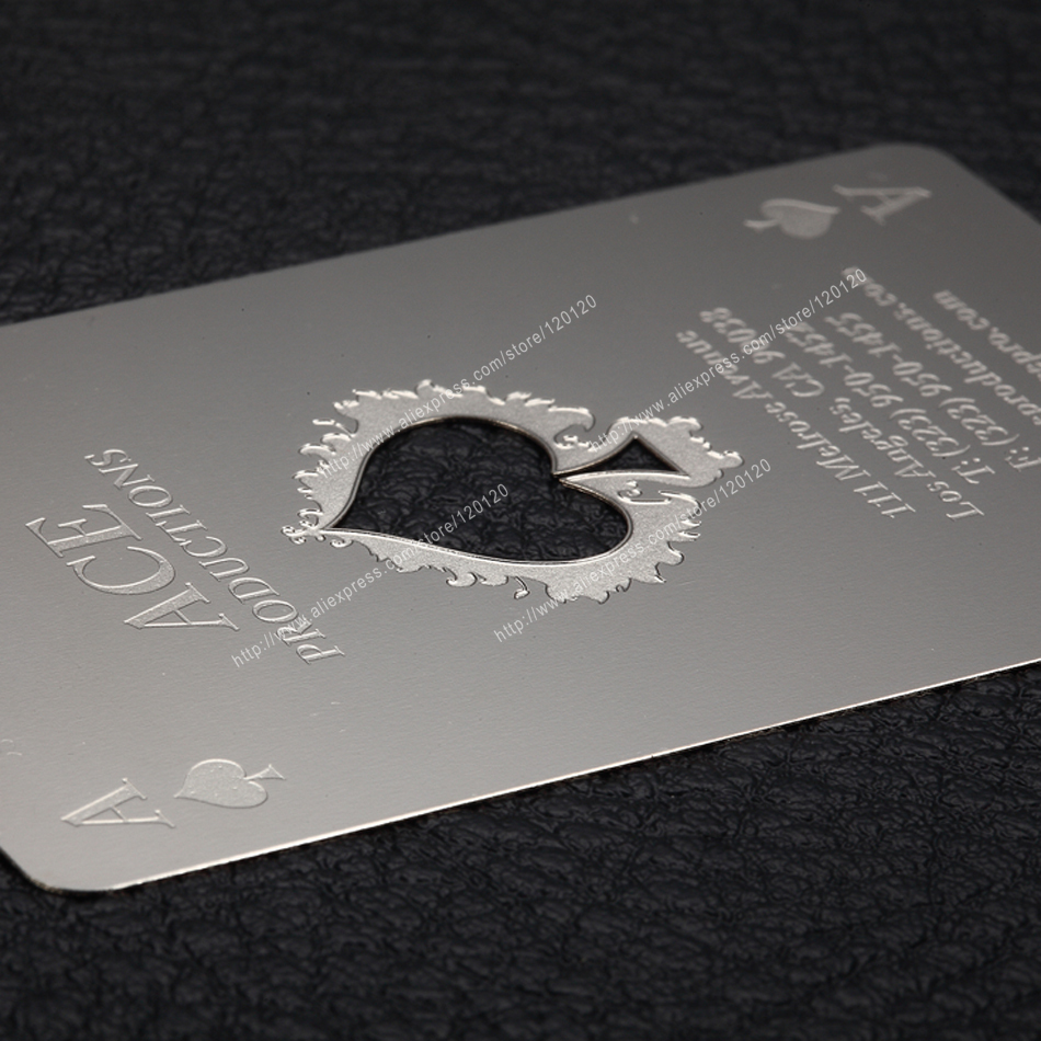 Personalized On The Road Cutout Quality Stainless Steel Business Metal Card