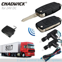 Keyless Entry System 16# FLIP KEY 24V for truck 2 door central locking with remote control Vehicle CHADWICK 8117 Engineering car