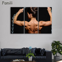 3pcs Superstar Fitness Bodybuilding Poster Fabric Silk Black And White Poster Print Great Pictures On The