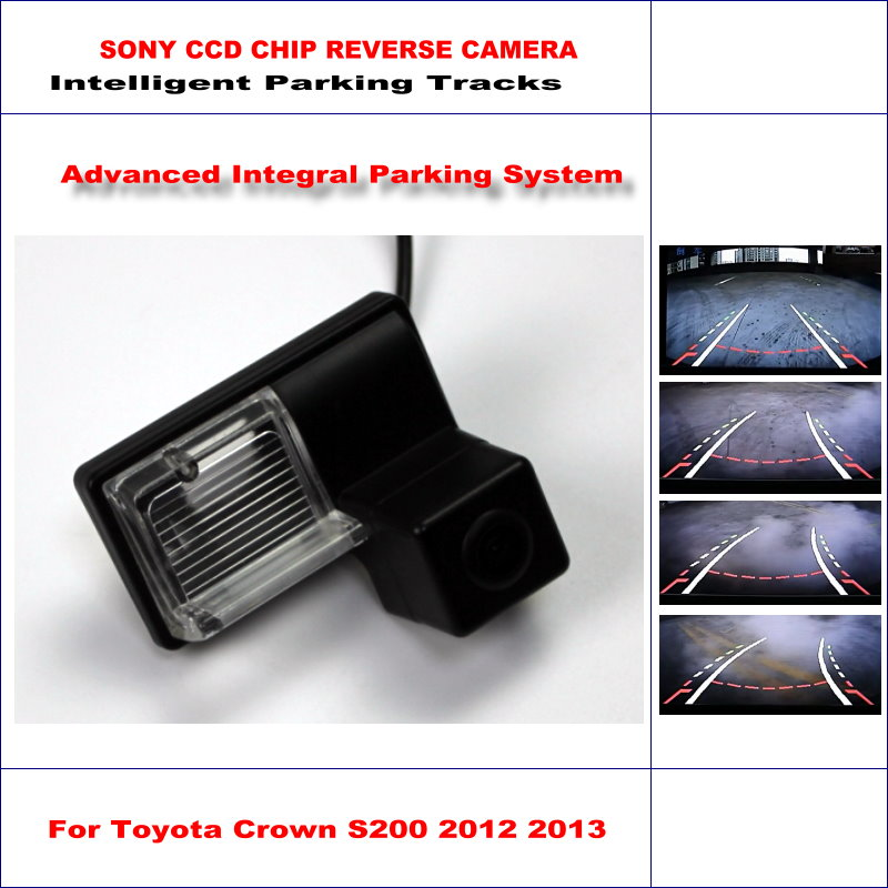 Rear Camera For Toyota Crown S200 2012 2013 Intelligent Parking Tracks Backup Reverse / 580 TV Lines Dynamic Guidance Tragectory