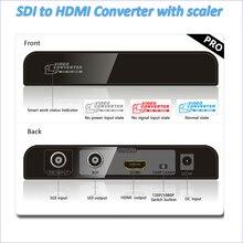 Nova sdi para hdmi conversor com a função scaler converte sd-sdi, 3g-sdi ou hd-sdi para hdmi para a condução hdmi monitores