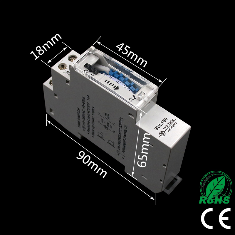 Image 4 - DIN Rail SUL180a Time Switch Mechanical Timer Switch 24 Hours Programmable Timer 16A Time Switch-in Timers from Tools