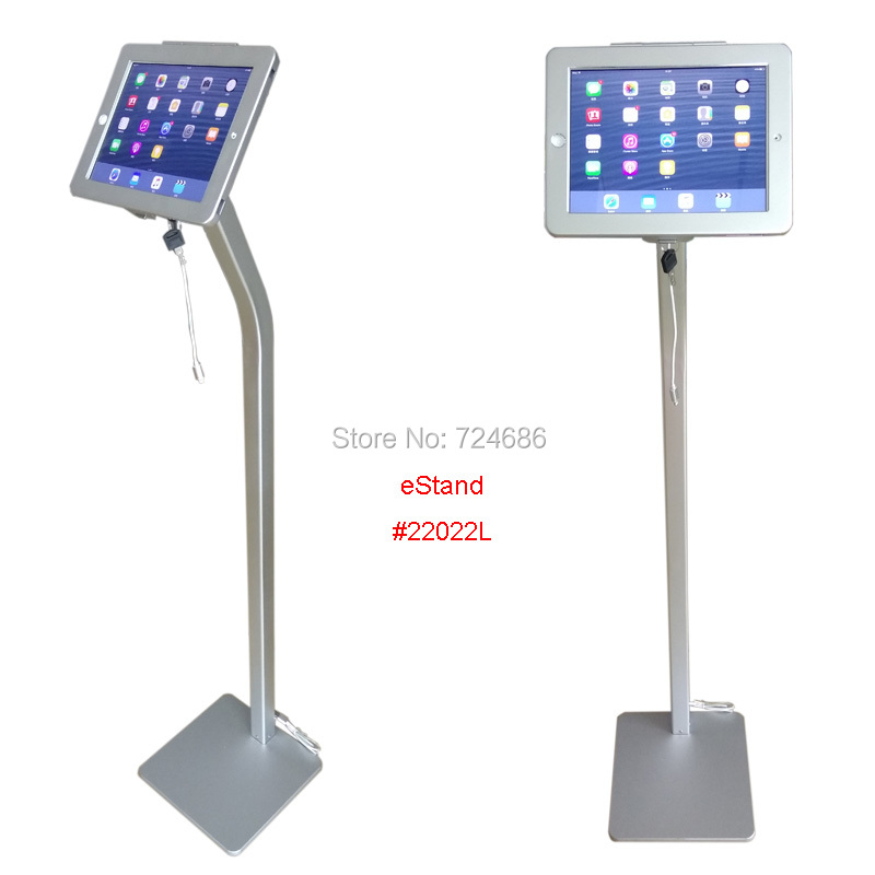for iPad 2/3/4/ air/pro 9.7 security floor stand with charging cable display anti-theft kiosk on bank or shop air air the vigin suicides limited edition 2 cd 3 lp