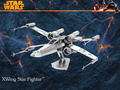 3D metal model X-Wing Star Fighter Star Wars 3D puzzle Wholesale price Stainless steel Etching Children's gifts Make by hand