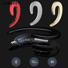 kebidu 1pc Wireless Bluetooth 4.2 Headphones Bone Conduction earphone Sports Headset