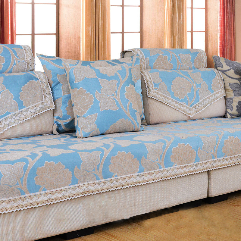 Charmant Chenille Flocked Jacquard Sofa Chair Slipcover Fabric Corner Sofa Cover Floral  Couch Slip Cover House Canape Settee Cushion Tray In Sofa Cover From Home  ...