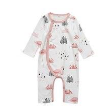 Хлопковая одежда для сна для новорожденных; комбинезон для малышей; унисекс; пижама с длинными рукавами и рисунком Фламинго; одежда для сна