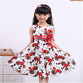 Baby Girls Floral Dress Girl Cotton Summer Princess Birthday Party Dresses 2-15Yrs Girl's Fashion Dress for Wedding 2017 New D16