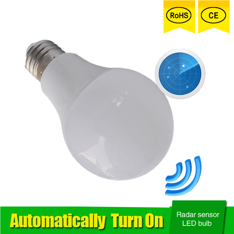 Radar Motion Sensor Led Lamp Bulb E27 5W 7W 9W 110V 220V 85-265V Automatic Smart Detection Led Infrared Body Motion Sensor Light