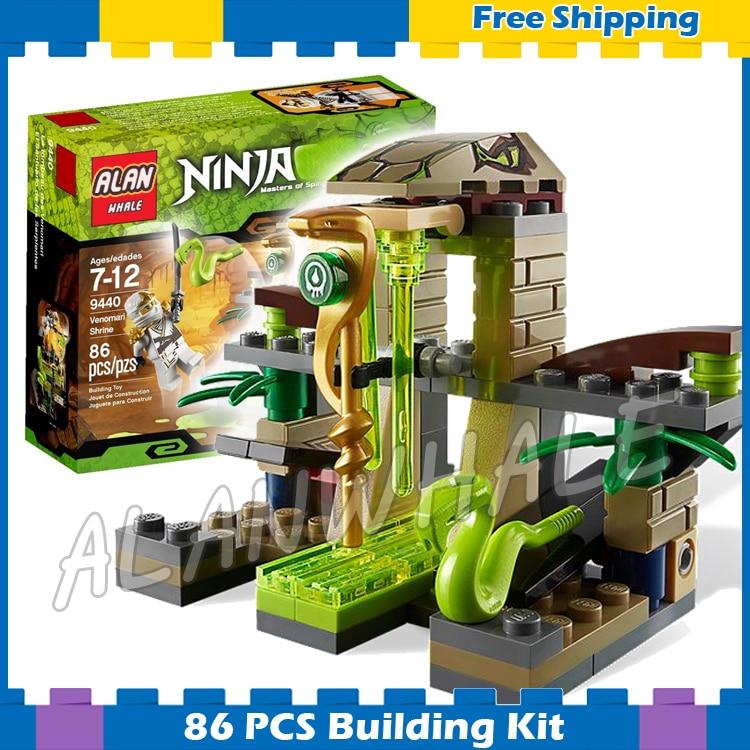 86pcs 9753 Ninja Venomari Shrine Zane ZX snake launch Model Assemble Building Blocks Toys Gifts Compatible With lego