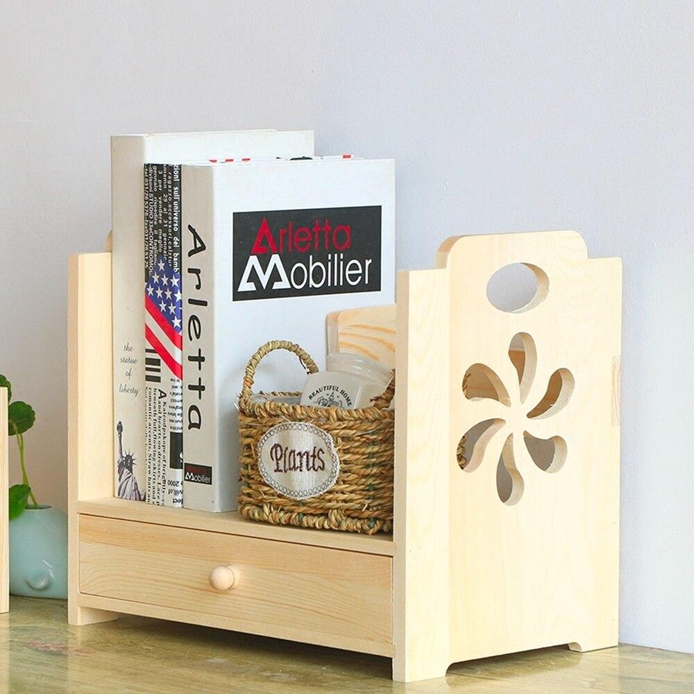 Bois sculpté table tiroir boîte de rangement bureau boîte de rangement en bois dortoir stockage étagère wx10241453