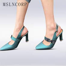 plus size 34-46 Dress Women Sandals High Heel Fashion Summer Office Lady Pumps Crystal Bowtie Pointed Toe Party Wedding Shoes недорого
