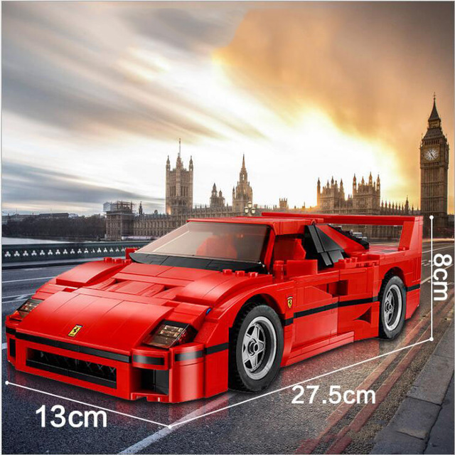 Building Blocks Model 21004 Compatible with lepines F40 Sport Car 10248 figure Educational Toys for Kids Gift for Boys Girls 1