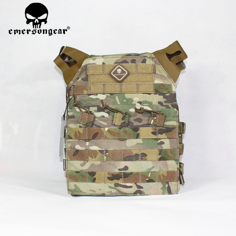 Emersongear Tactical Vest Molle Jpc Vest Airsoft Paintball Molle Vest Chest Protecting Plate Service Multicam Fight Vest Em7344