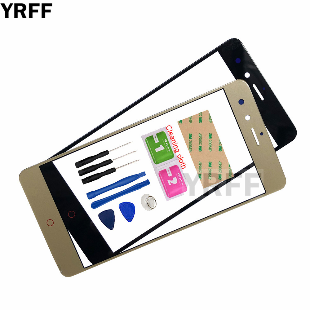YRFF 5.0'' Mobile Outer Glass For <font><b>ZTE</b></font> <font><b>Nubia</b></font> <font><b>Z11</b></font> <font><b>Mini</b></font> NX529J Front Glass Panel Replacement (No <font><b>Touch</b></font> <font><b>Screen</b></font> Digitizer Panel ) image