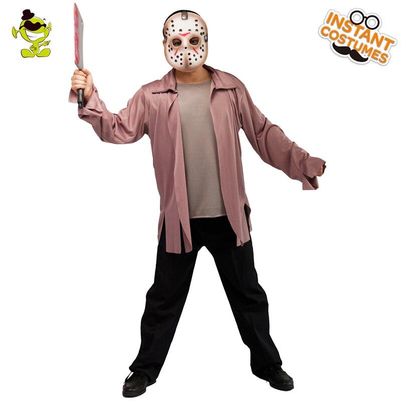 migliore selezione del 2019 Super carino funzionario di vendita caldo US $18.07 30% di SCONTO Gli uomini di Halloween Jason killer costume  cosplay vestiti horror killer Venerdì il 13th di carnevale costumi di gioco  di ...