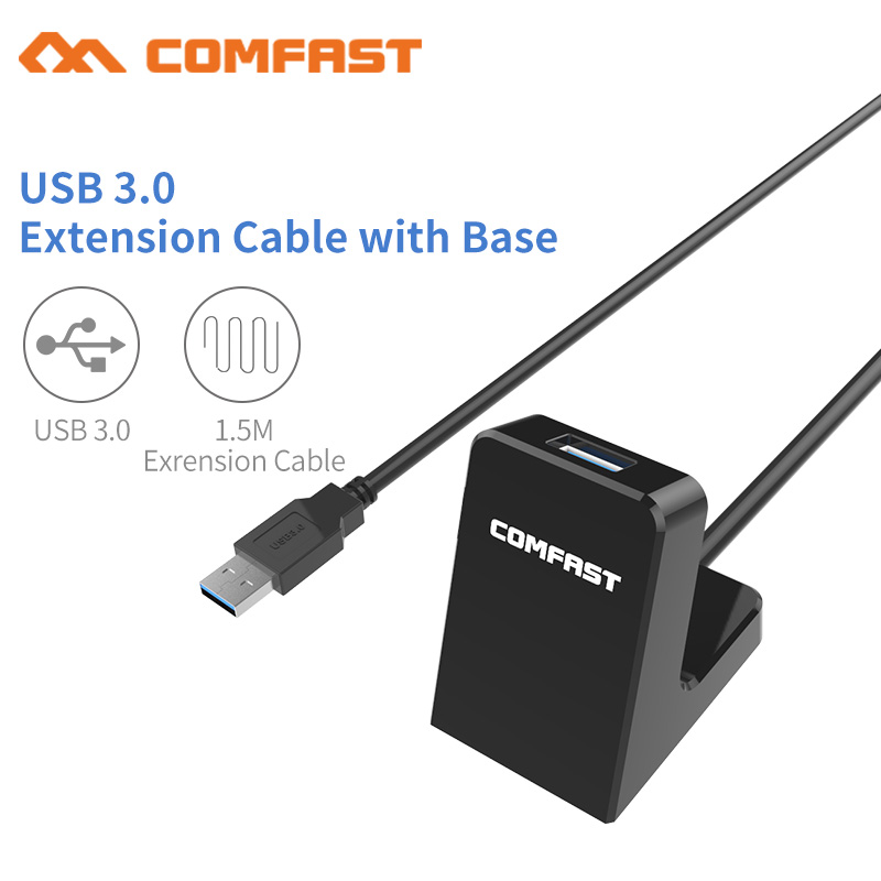 buy usb 3 0 extension cable with base for usb wireless adapter disk external. Black Bedroom Furniture Sets. Home Design Ideas