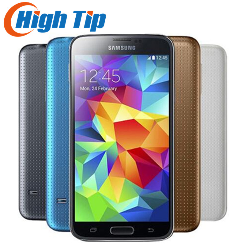 Original desbloqueado Samsung S5 SM-G900 G900F G900A G900H quad-core 5.1 pulgadas 3G y 4G 16MP GPS wifi teléfono móvil restaurado Dropship