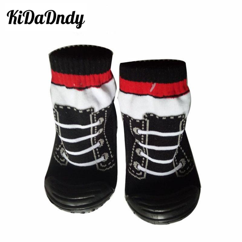 Kinderen Peuter Schoenen Sokken Katoenen Babysokjes Pasgeboren Antislip Babysokken met Rubberen Zolen Ws931
