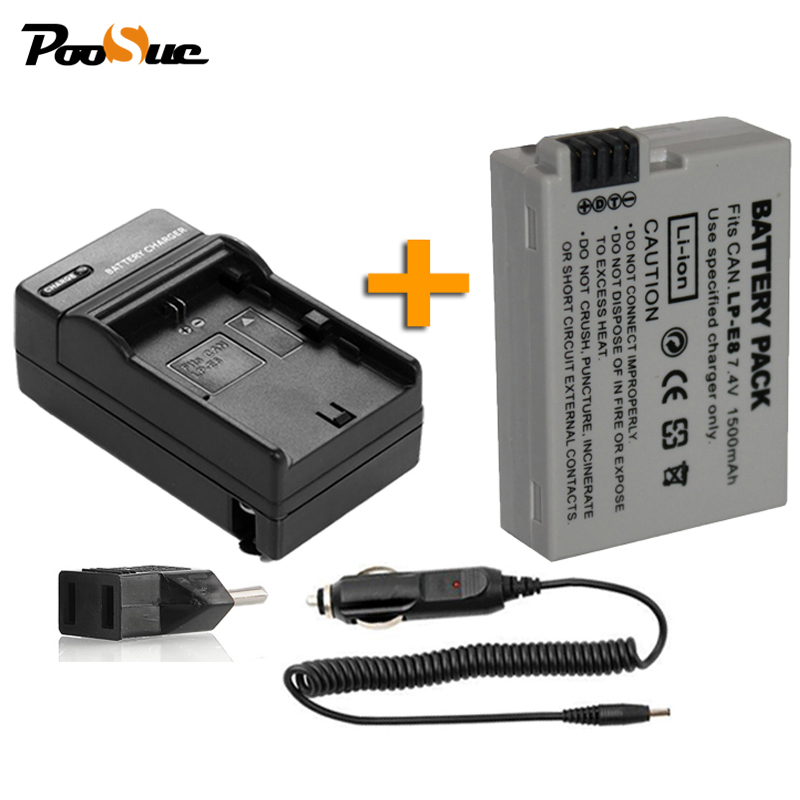 For Canon 550D 600D 650D 700D accessories 7.4v 1500mAh LP E8 digital batteries Li-ion LPE8 Camera Battery+charge+car chargeFor Canon 550D 600D 650D 700D accessories 7.4v 1500mAh LP E8 digital batteries Li-ion LPE8 Camera Battery+charge+car charge