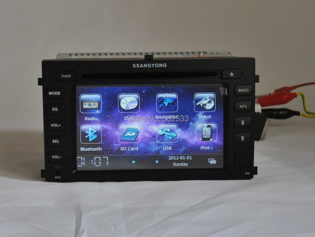 Double Din Car DVD Player With GPS Navigation For Ssangyong Rexton 2 Rexton II