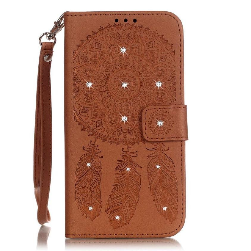 Leather Wallet Mandala Case For iphone