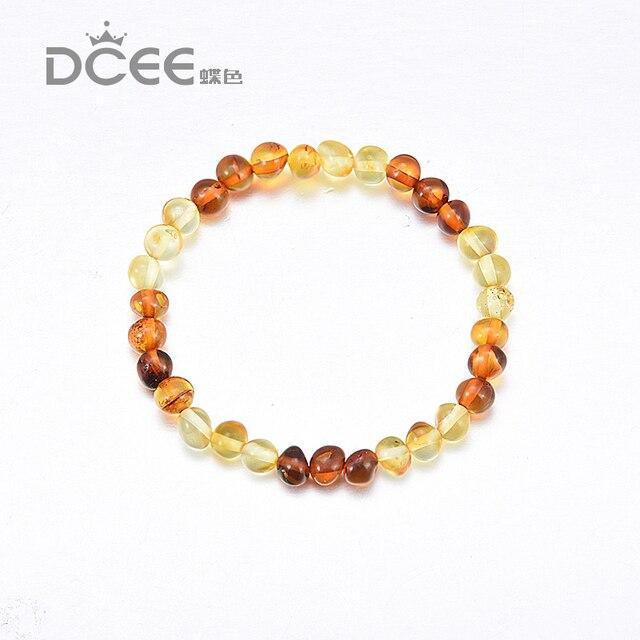 Ambar bracelet Stretch violet cristal perles Véritable Baltique Naturel  Ambar Bracelet maman bébé cadeau de maternité
