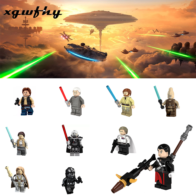 For Star Wars Figures Sith Trooper Grievous Han Solo Maz Anakin Darth Vader Yoda Starwars Building Blocks Toys Lgoings JM222 in Blocks from Toys Hobbies