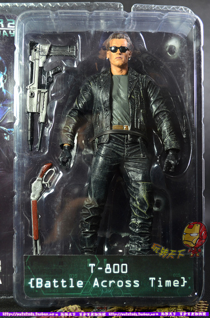 e90a7cdc5d4 new packing two guns Terminator 2 model T800 toy figure with sunglass tommy  gun 7 inch