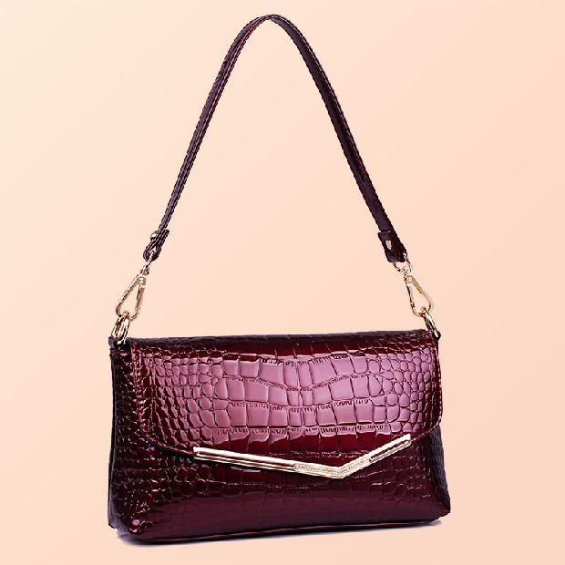 ФОТО Women's Leather Handbags High Quality Alligator Shoulder CrossBody Bags Ladies Fashion Messenger Bag Hobos Women Bags
