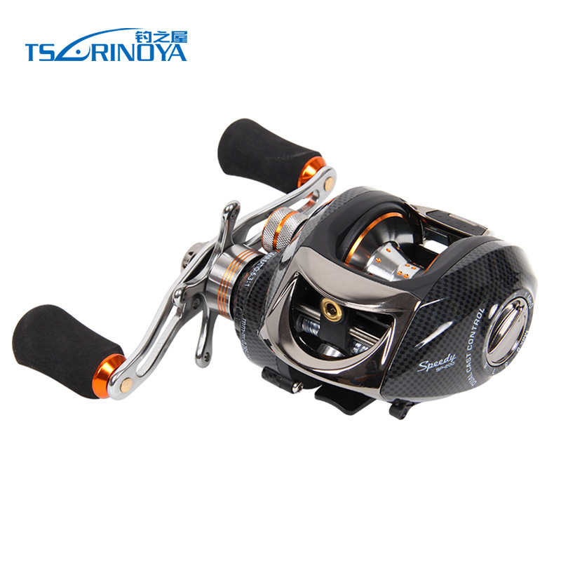 TSURINOYA Speedy Baitcasting Fishing Reel 13 1BB Magnetic Control Dual Brake System 6 3 1 Right